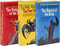 We offered this set of the first American paperback editions, a piracy brought about by Tolkien's failure to protect his copyright in the U.S., in our Catalog 94.