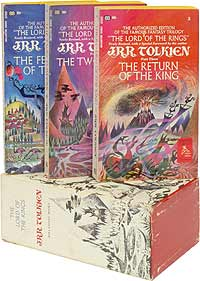 We offered this set of the first authorized American paperback editions, and the true first revised editions, with a special forward by Tolkien, in our Catalog 102.