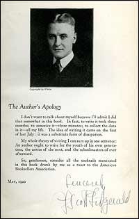 "We offered this copy of the signed ""Apology"" edition in our Catalog 113."