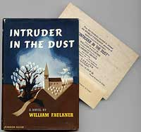 We offered this copy, with publisher Bennett Cerf's personal card and an invitation to the film version's world premiere in Faulkner's home town of Oxford, MS laid in, in our Catalog 93.