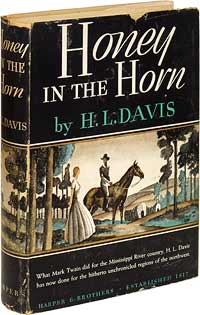 This copy is in the rare variant dustwrapper, and is possibly unique as such. It is likely this jacket art was scrapped prior to publication when the book won the Harper Prize. Courtesy of a private collector.