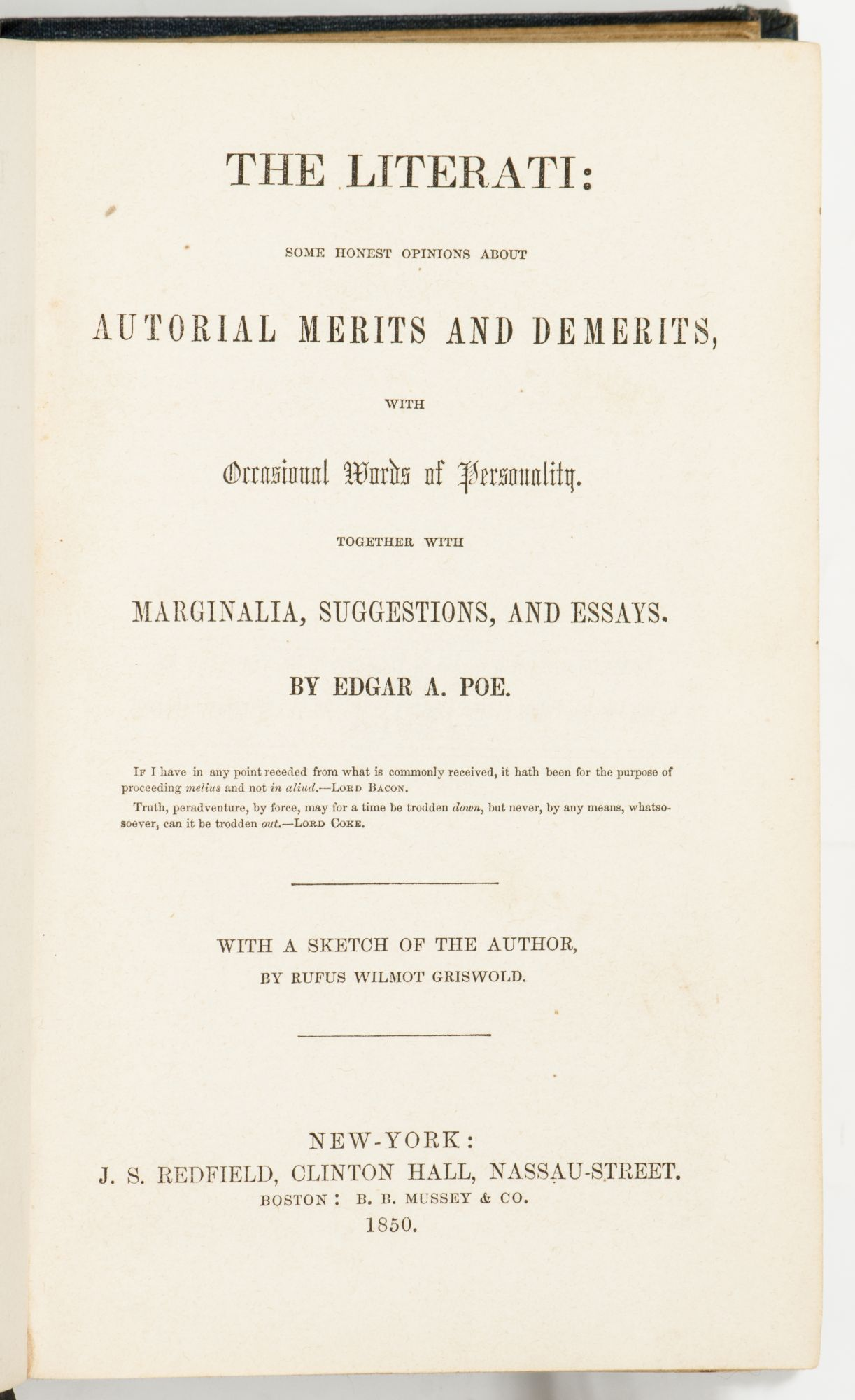 the literati some honest opinions about authorial merits and the literati some honest opinions about authorial merits and demerits occasional words of