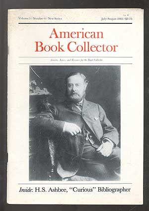 American Book Collector: Volume 3/Number 4/New Series/July/August 1982
