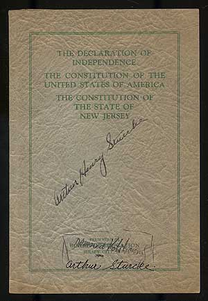 The Declaration of Independence, The Constitution of the United States of America, The Constitution of The State of New Jersey. JERSEY CITY BOARD OF EDUCATION, N. J.