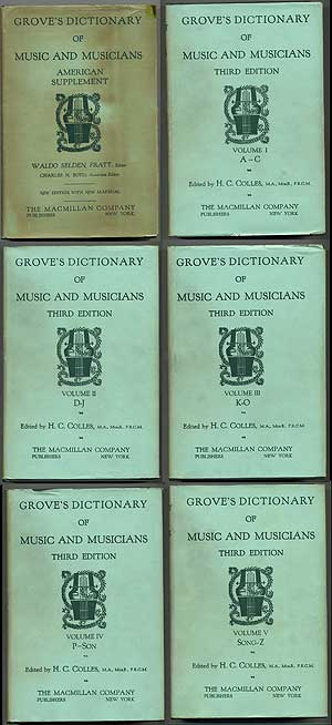 Grove's Dictionary of Music and Musicians: Volumes 1-5, with an American Supplement