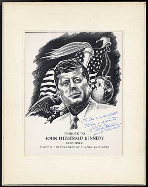 Print entitled]: Tribute to John Fitzgerald Kennedy 1917-1963. Thirty-Fifth President of the...