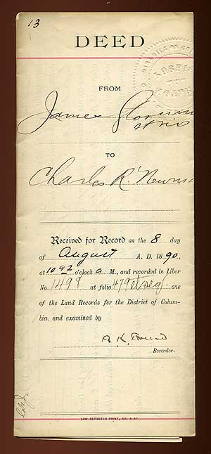Signed Document. Blanche K. BRUCE.