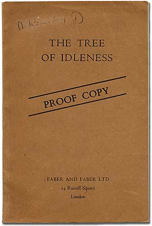The Tree of Idleness. Lawrence DURRELL.