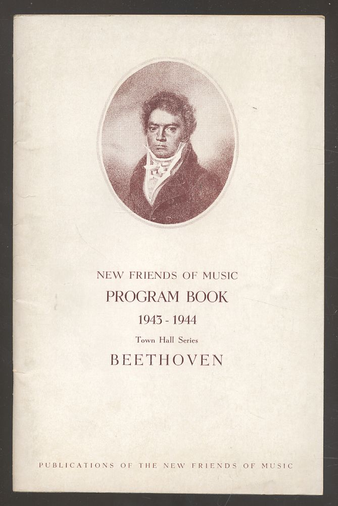 Beethoven: Chamber Music and Lieder, Program Book 1943-44