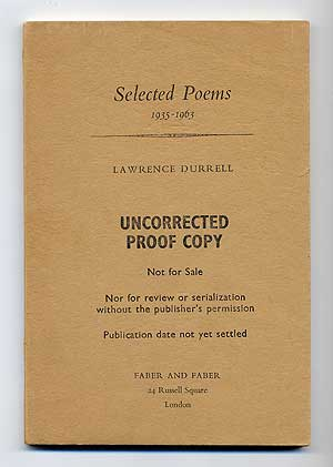 Selected Poems 1935-1963. Lawrence DURRELL.