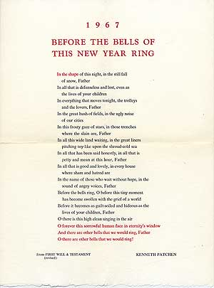 [Broadside]: 1967 Before the Bells of This New Year Ring