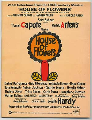 "Vocal Selections from the Off-Broadway Musical ""House of Flowers"" Truman CAPOTE, Harold Arlen."