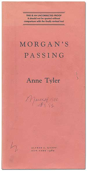 Morgan's Passing. Anne TYLER.