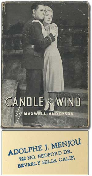 Candle in the Wind. Maxwell ANDERSON.