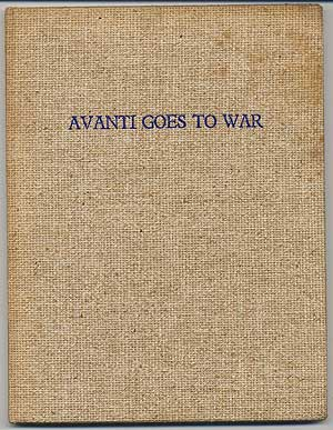 Avanti Goes To War. Rufus SMITH.