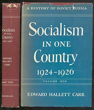 SOCIALISM IN ONE COUNTRY; 1924-1926. EDWARD HALLETT CARR.