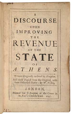 A Discourse upon Improving the Revenue of the State of Athens. Written Originally in Greek by...