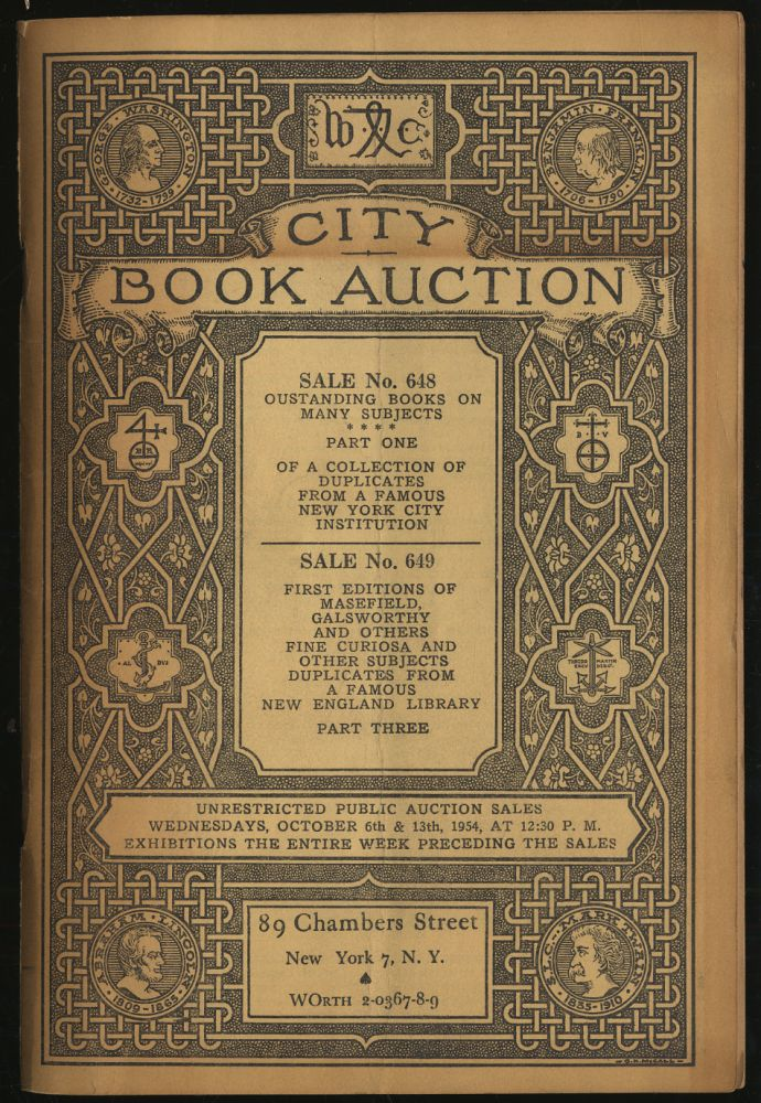 City Book Auction Sale No. 648 and 649