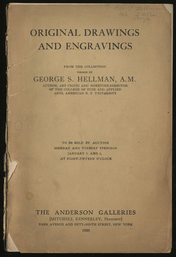 Original Drawings and Engravings From the Collection Formed By George S. Hellman