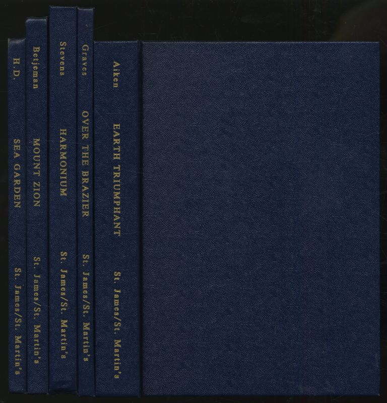 Poetry Reprint Series Set One: Sea Garden by H.D.; Over the Brazier by Robert Graves; Harmonium by Wallace Stevens; Mount Zion by John Betjeman; Earth Trimphant by Conrad Aiken