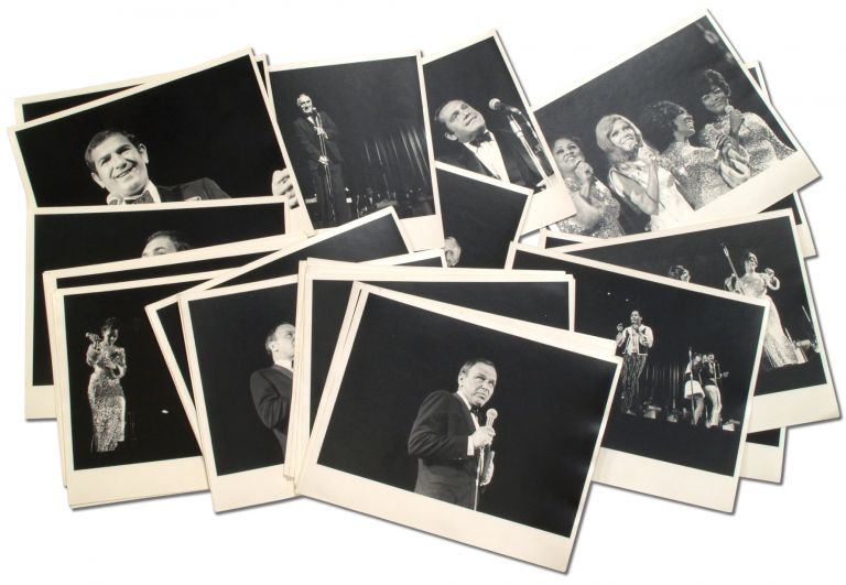 A Collection of 64 Photographs of a Frank Sinatra Performance with related artists. Frank SINATRA.