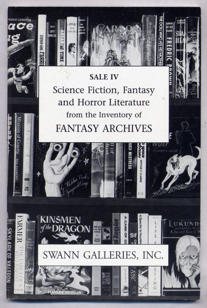 Science Fiction, Fantasy and Horror Literature From the Inventory of Fantasy Archives