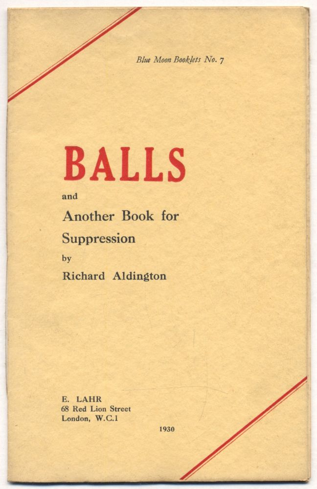 Balls and Another Book for Suppression