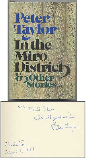 In the Miro District & Other Stories. Peter TAYLOR.