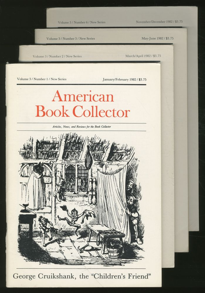 American Book Collector New Series Volume 3, Numbers 1, 2,3,6. Anthony consulting FAIR.
