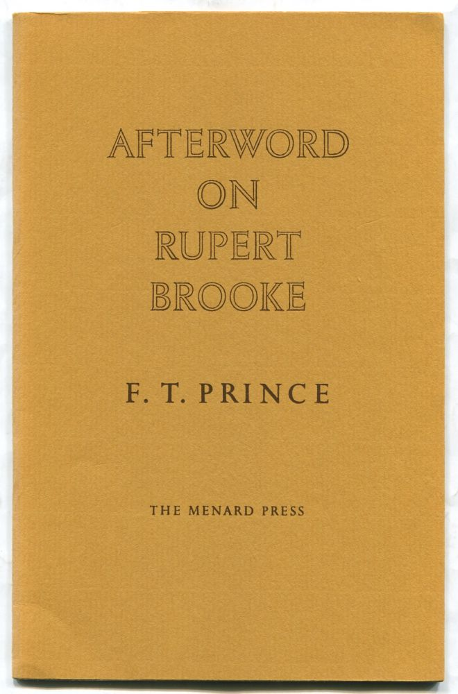 Afterword on Rupert Brooke
