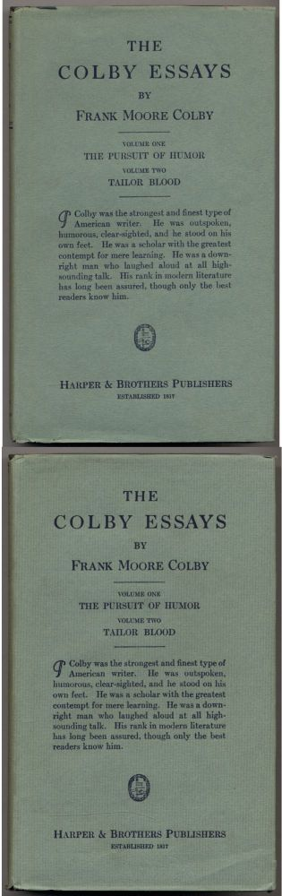 The Colby Essays: The Pursuit of Humor and Tailor Blood