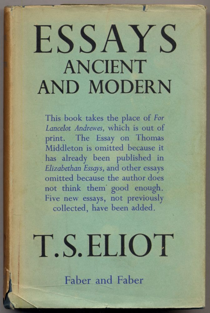 Essays Ancient and Modern