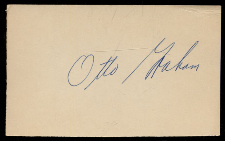 Signed Card. Otto GRAHAM.