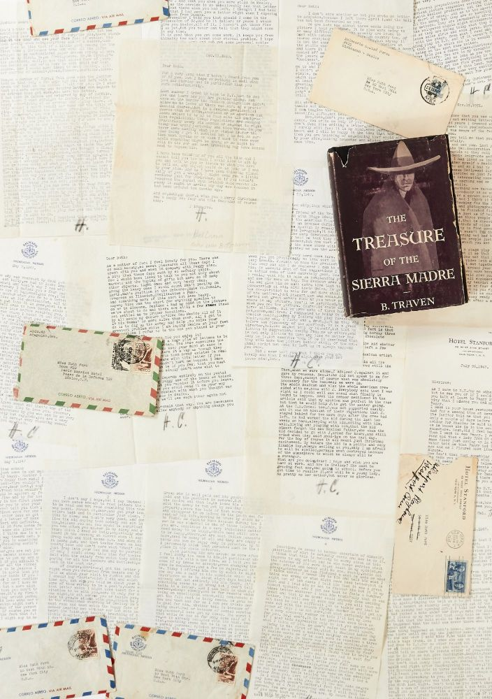 A Collection of 21 B. Traven Letters to Ruth Ford, with Related Material Including Three Books. B. TRAVEN.