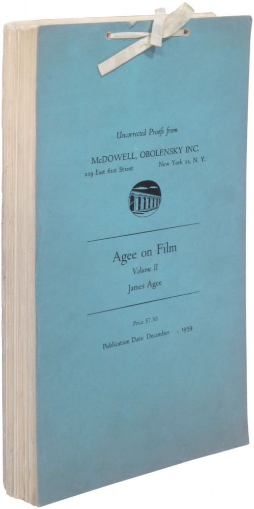 Agee on Film. Volume II [only]. James AGEE.