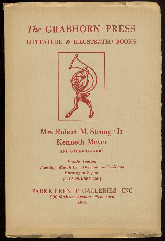 Fine Press Books: The Grabhorn Press and Other California Examples, Modern American Literature: French XVIII, Century Illustration: Mrs. Robert M. Strong, Jr. and Kenneth Meyer and other owners