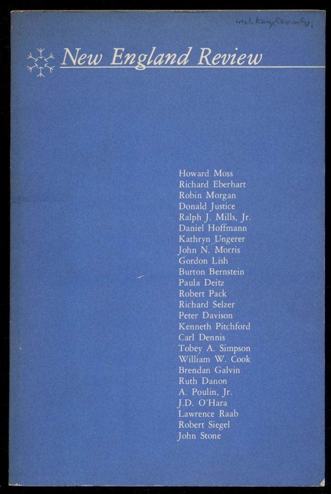 New England Review Volume I Number 2 Winter 1978