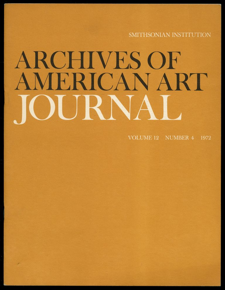Archives of American Art Journal Volume 12 Number 4 1972