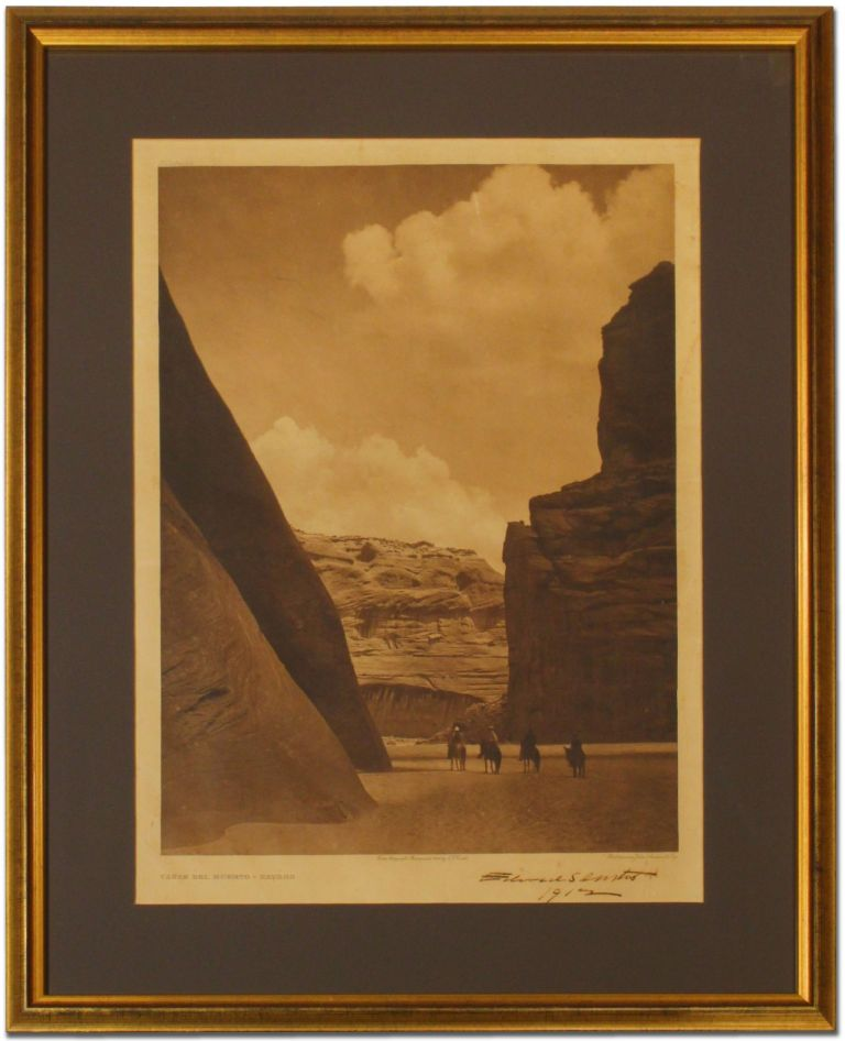 "[Original Print]: ""Canon del Muerto, Navaho"" [from The North American Indian, 1906]. Edward S. CURTIS."