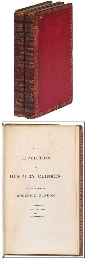 The Expedition of Humphry Clinker; by the author of Roderick Random, 2 volumes. Tobias SMOLLETT, George Cruikshank.