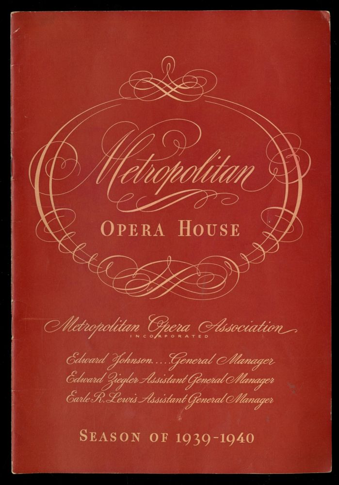 Metropolitan Opera House Season of 1939-1940