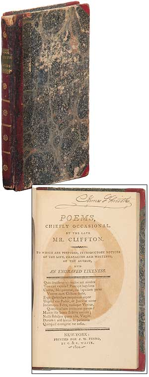 Poems, Chiefly Occasional by the late Mr. Cliffton. William CLIFFTON.