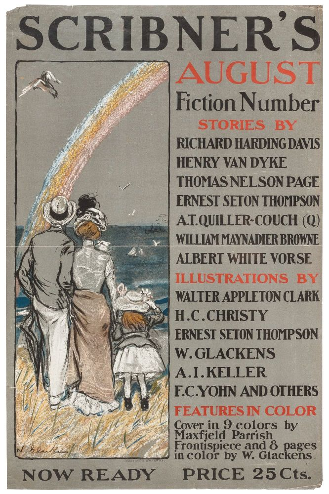 Color Lithographic Poster]: Scribner's August Fiction Number (1899