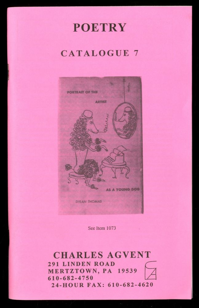 Charles Agvent: Catalogue 7: Poetry
