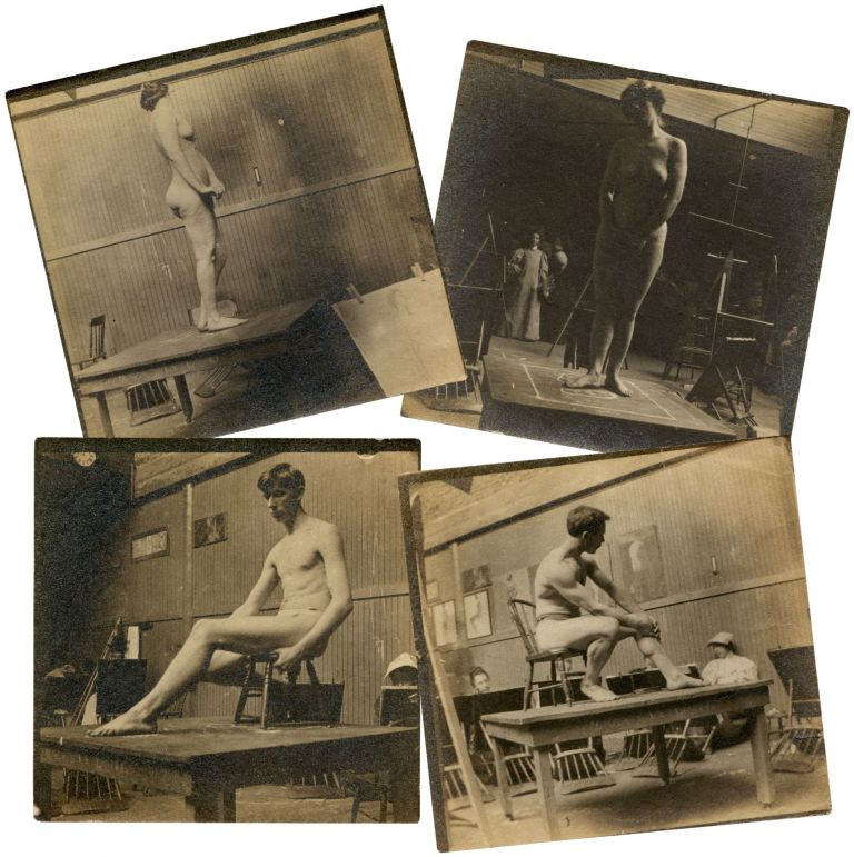 Four Studies of a Male and Female Nude, circa 1885