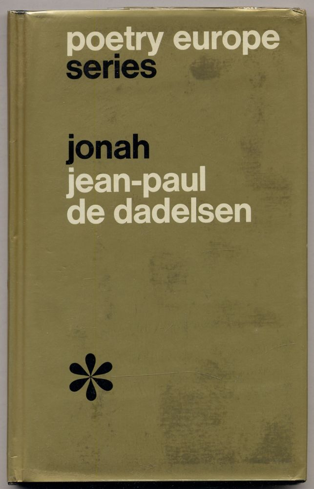 Jonah: Selected Poems. Jean-Paul de DADELSEN, Edward Lucie-Smith.