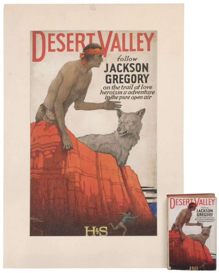 [Original Dust Jacket Art]: The Desert Valley