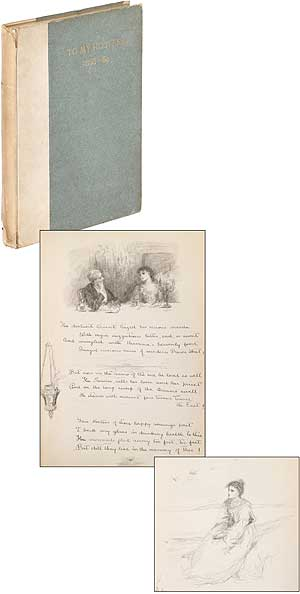 Manuscript Guest Book With Poems and Ink Drawings]: To My Hostess 1888 - 89