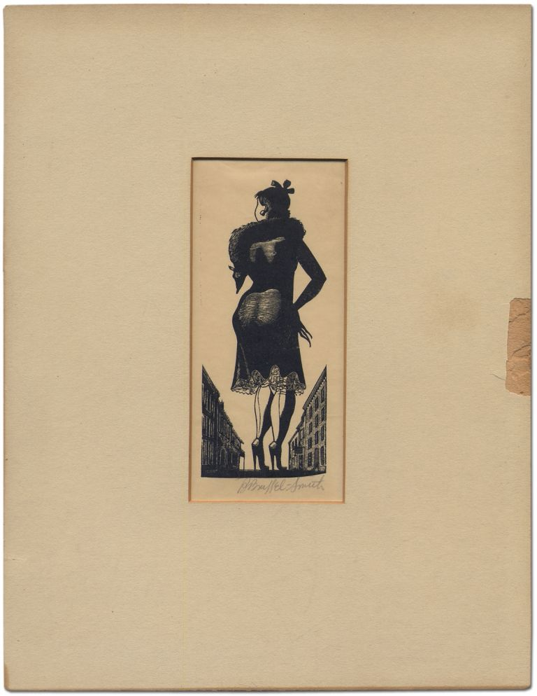 Print of a woman in high heels, viewed from the rear. Bernard BRUSSEL-SMITH.