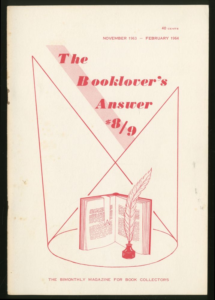The Booklover's Answer: #8/9, November 1963-February 1964